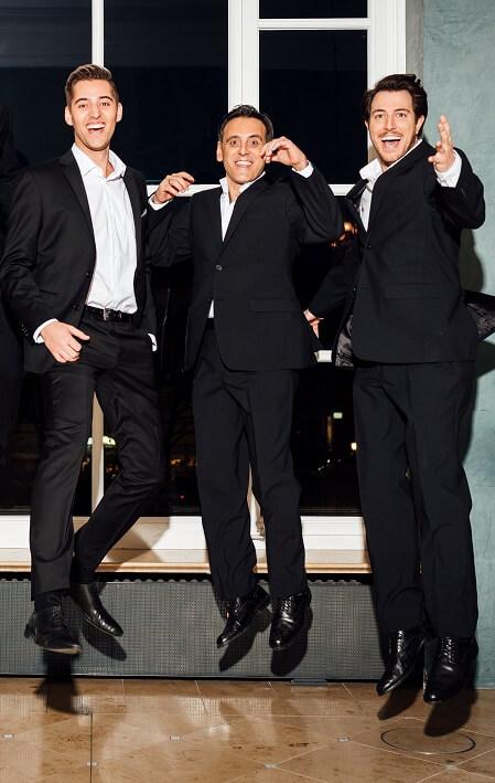 Die Herzbuben: Maximilian Mayer, Juan Carlos Falcón und Alexandros Tsilogiannis © Sebastian Gabriel